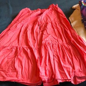 Salmon color skirt
